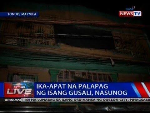 [GMA]  Ika-apat na palapag ng isang gusali, nasunog