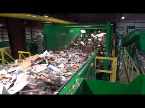 Single Stream Recycling System at Winter Bothers - Green Machine® LLC