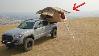 Installing a ROOFTOP TENT on my New Tacoma!