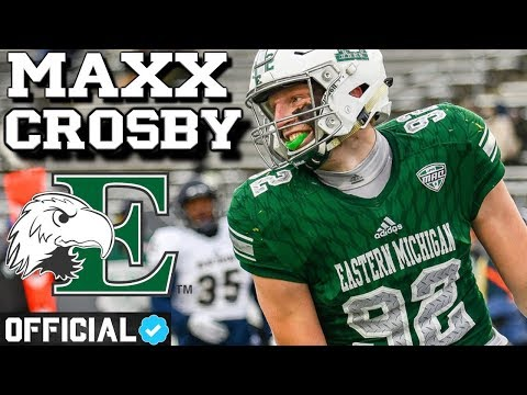 The Most Unstoppable DE in College Football  Official Maxx Crosby Eastern Michigan Highlights