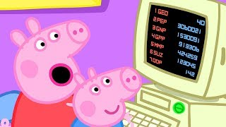 Peppa Pig Official Channel   Peppa Pig Wants to Play Happy Mrs Chicken Game on the Computer