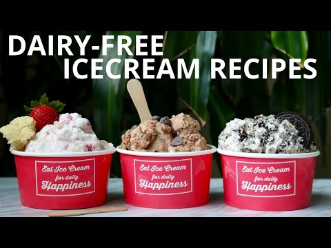 Video Dairy-Free Ice-Cream Recipe (No Ice-cream Machine Required)