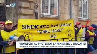 PROFESORII AU PROTESTAT LA MINISTERUL EDUCATIEI   YOUTUBE