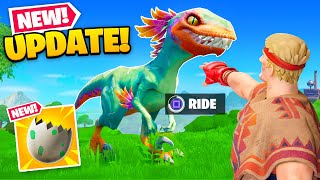 *NEW* DINOSAUR UPDATE in Fortnite! (Map Changes, New Weapons + MORE)