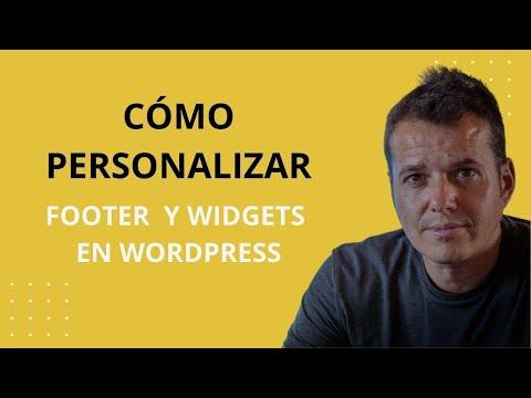 Cómo personalizar el Footer y Widgets en WordPress