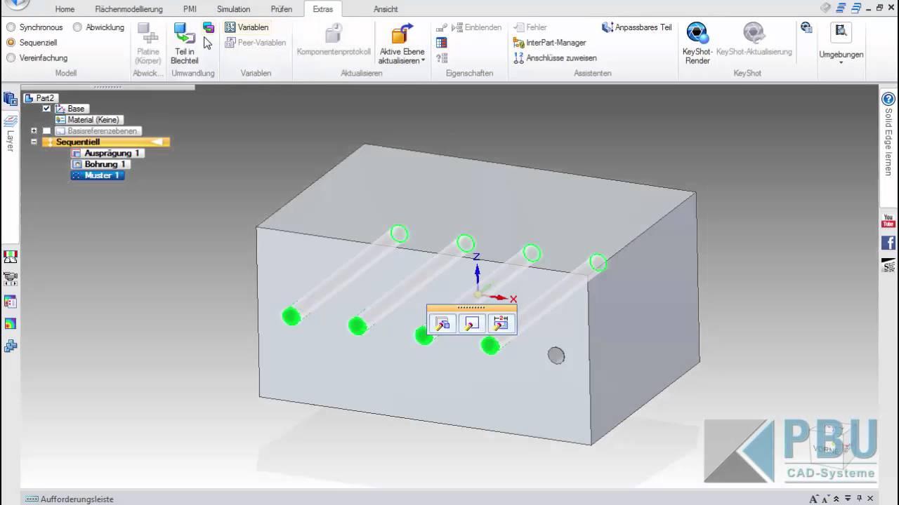 Vorschaubild: Solid Edge Tutorial: Arbeiten mit Variablen