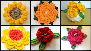 Crochet Flower Ideas - Crocheted Flower Patterns - Stylish Crochet Flowers Ideas