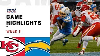 Chiefs vs. Chargers Week 11 Highlights | NFL 2019