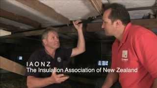 Installing underfloor insulation