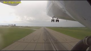 Antonov 225 Mriya outboard camera FULL takeoff, world's LARGEST airplane! By [AirClips]