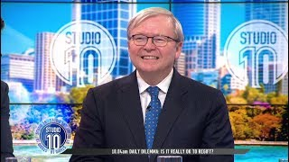 Kevin Rudd Reflects On Days As Prime Minister   Studio 10