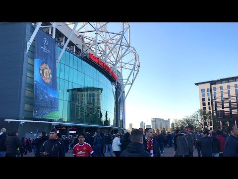 Manchester United Fans Arrive At Old Trafford For Barcelona Clash