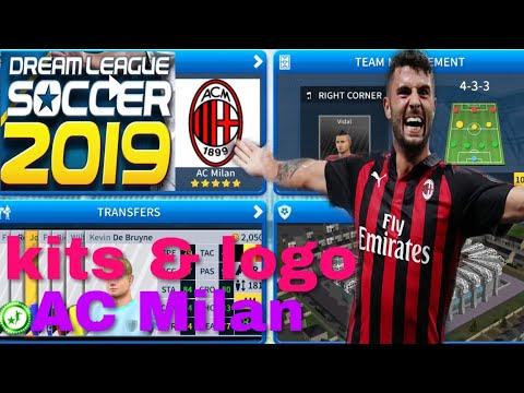 How To Create AC Milan Team Kits & Logo | Dream League Soccer 2019