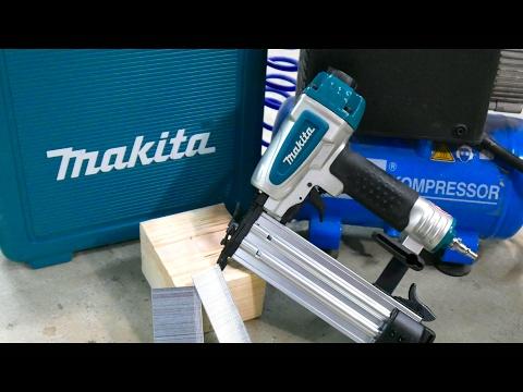 Vorstellung Makita AF 505 Druckluft - Magazinnagler 15-50mm
