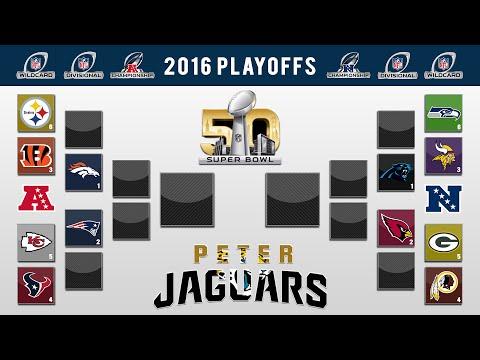 PETERJAGUARS' 2016 NFL PLAYOFF PREDICTIONS! FULL BRACKET + Super Bowl 50 Winner and All Games