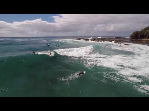 Fun waves at Werri Beach
