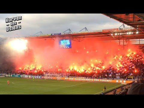 1. FC Magdeburg 1:1 1. FC Union Berlin 09.12.2018 | Choreo, Pyro & Support