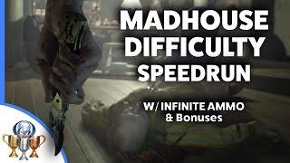 Resident Evil 7 Live MADHOUSE Difficulty Speedrun Walkthrough W Infinite Ammo And All Bonus Items