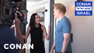 Behind The Scenes Of Gal Gadots #ConanIsrael Cameo  - CONAN On TBS