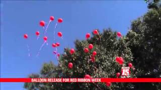 Balloon Release for Red Ribbon Week