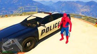 Человек Паук Катается на Полицейской Машине - Spider-Man Ride a Police Car