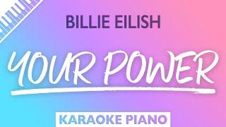Billie Eilish - Your Power (Karaoke Piano)