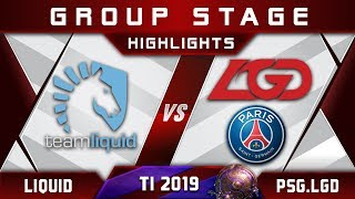Liquid vs PSG.LGD TI9 The International 2019 Highlights Dota 2