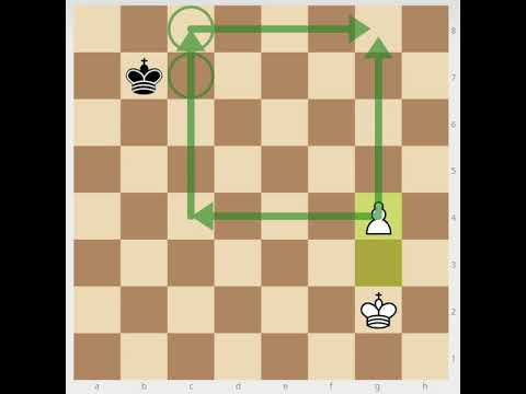 Chess endgame lesson: The Square of the Pawn