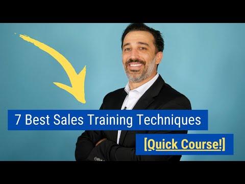 7 Best Sales Training Techniques Quick Course! - YouTube