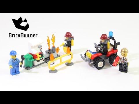 Vidéo LEGO City 60088 : Ensemble de démarrage Pompiers