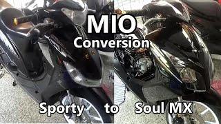 How to Convert Mio Sporty to Mio Soul MX