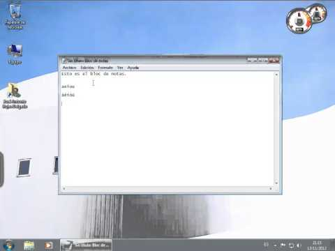 windows 7 - el bloc de notas