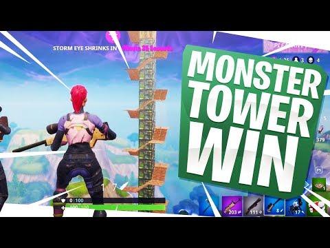 MONSTER TOWER WIN! - Fortnite Fun