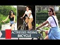 Bollywood Divas Riding Bicycle On Road