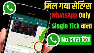WhatsApp No Double Tick Settings | WhatsApp Single Tick Only | Hide Double Tick on WhatsApp 2020
