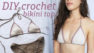 DIY Crochet Bikini Top Tutorial | For Any Size