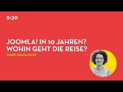 JD19DE - Joomla in 10 Jahren? wohin geht die Reise?