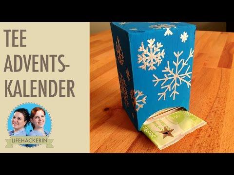 Schneller Adventskalender selbermachen    DIY Tee Geschenk