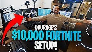 COURAGE'S $10,000+ FORTNITE SETUP! 2 BEAST PCS!