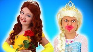 Princess Dress Up & Makeup Transformation Contest Between Elsa and Malena | Super Elsa