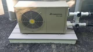 120 Volt Fibropool FH-120 pool heat pump installed overview thumbs👍