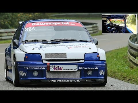 Renault Clio Williams Maxi || 250Hp/900Kg Berg-Cup Monster - Full Onboard