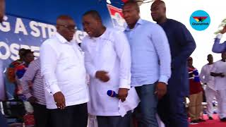 Akufo-Addo gets mobbed at NPP Delegates Conference at Koforidua