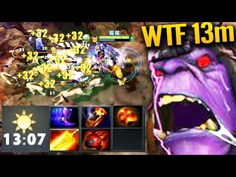 Alchemist 13 Min WTF Farm Ok Game Is Done!! Dota 2 Pro Gameplay