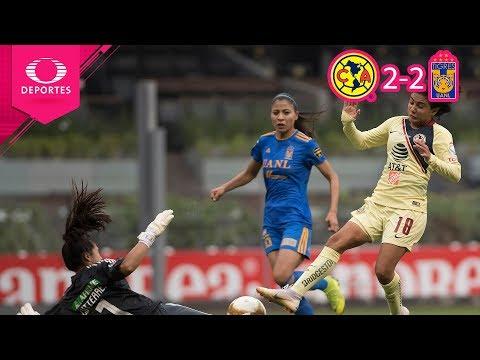 ¡Nada para nadie!   América 2 - 2 Tigres   Liga Mx Femenil - Final Ida   Televisa Deportes