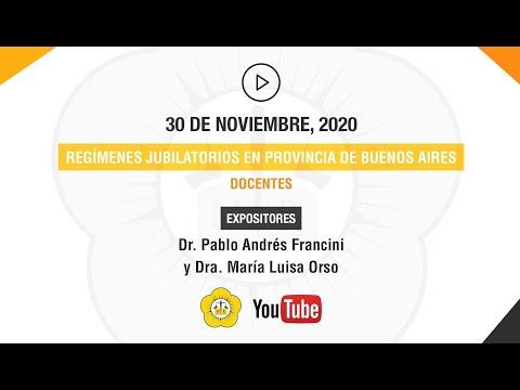REGÍMENES JUBILATORIOS EN PROVINCIA DE BUENOS AIRES, DOCENTES - 30 de Noviembre 2020
