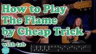 How to play The Flame on guitar