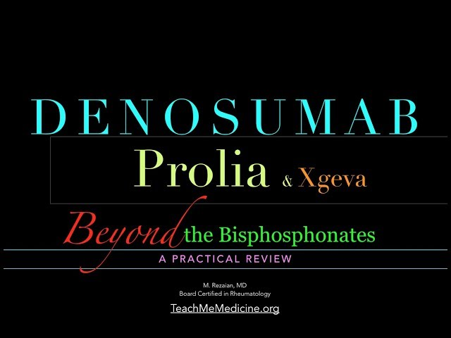 Denosumab (Prolia and Xgeva): A Practical Review