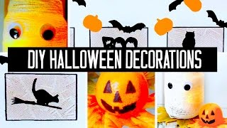SUPER easy & affordable DIY Halloween decorations for your room or party!