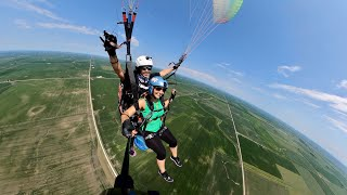Tandem with Elzbieta | Chicago Paragliding